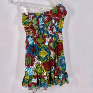 Accidently in Love Strapless Floral a Dres…